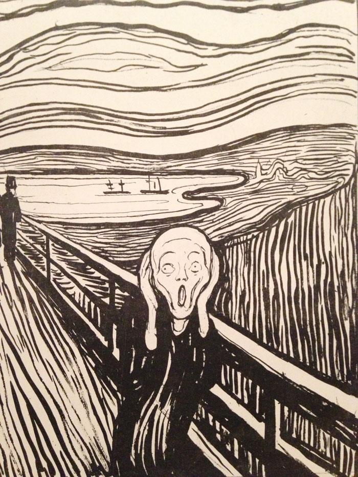 The Scream of Edvard Munch qua BST Vans MoMA Era