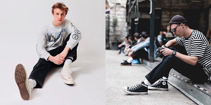 Giày converse nam cổ cao năng động và cá tính hơn cho phái mạnh