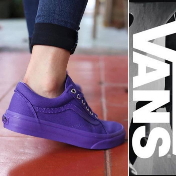 giày vans tím