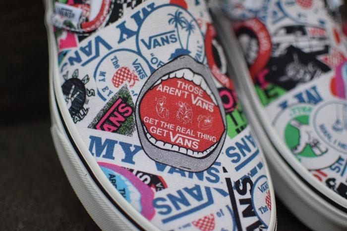 Tràn ngập Stickers vừa ngộ nghĩnh vừa cá tính trên thiết kế Vans Mash Up