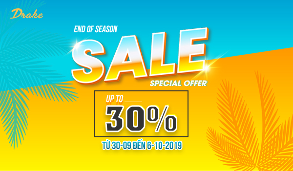 DRAKE VN – END OF SEASON – SALE UP TO 30% ALL ITEMS